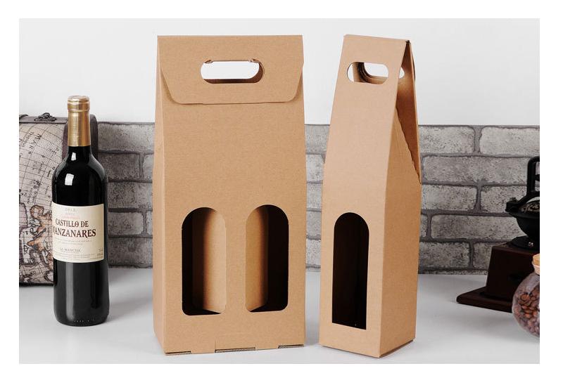 牛皮纸红酒盒