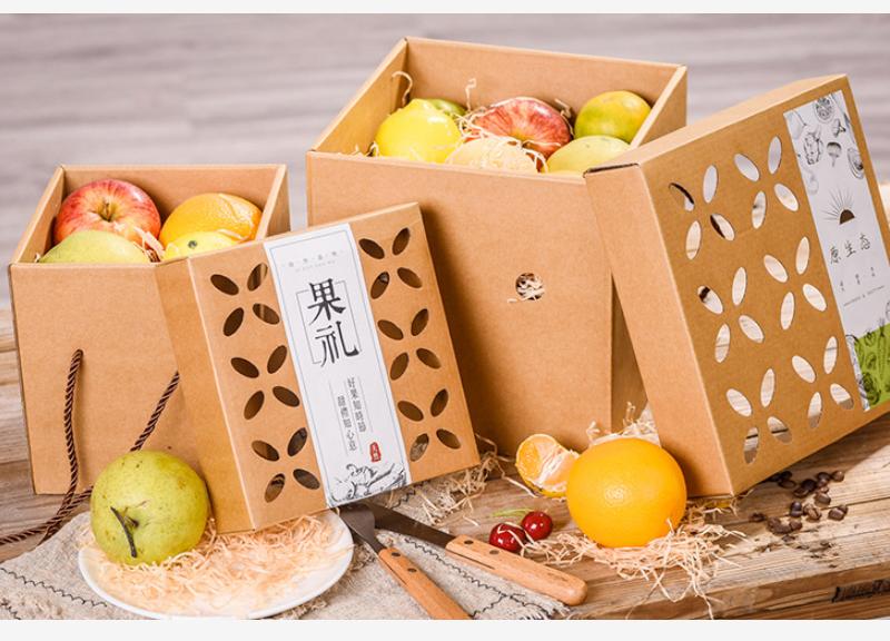 牛皮紙水果包裝盒案例