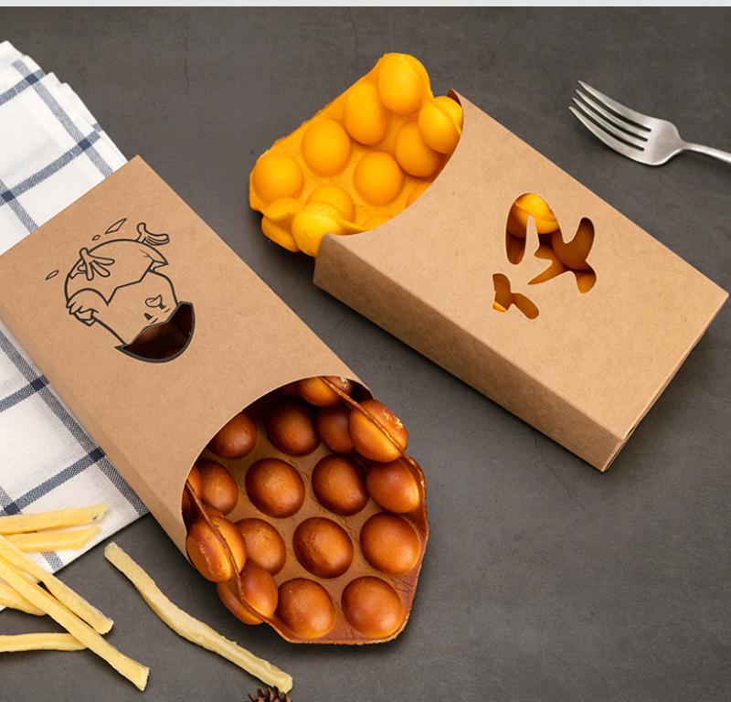 牛皮紙雞蛋仔紙盒包裝應用案例